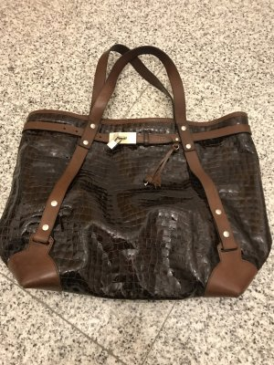 Dsquared2 Carry Bag bronze-colored leather