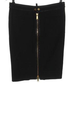 Dsquared2 Falda de talle alto negro look casual
