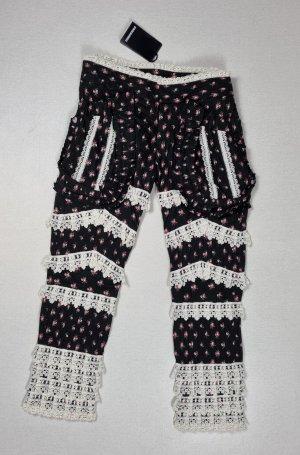 Dsquared2 Pantalon 3/4 noir-blanc coton
