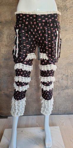 Dsquared2 Pantalone a 3/4 nero-bianco Cotone