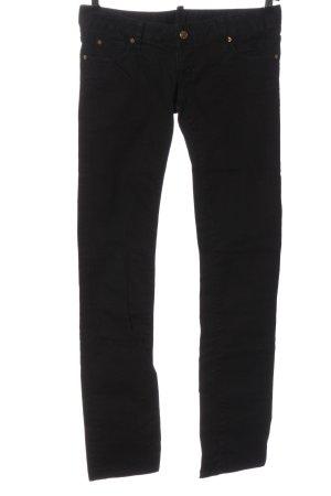 Dsquared2 Pantalone a vita bassa nero stile casual