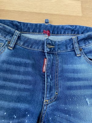 Dsquared2 Jeans taille basse bleu