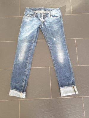Dsquared2 Jeans da motociclista azzurro