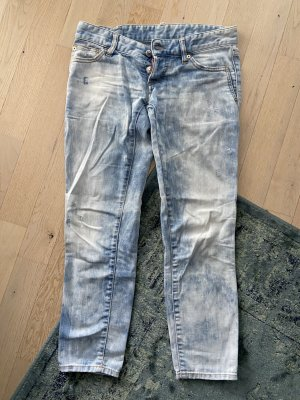 Dsquared2 Low Rise Jeans azure cotton
