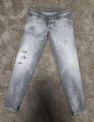 Dsquared2 Jeans taille basse gris clair-gris