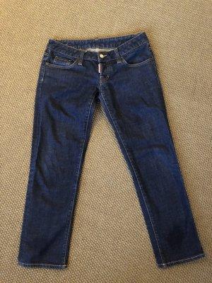 Dsquared2 Jeans taille basse bleu foncé