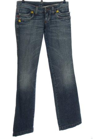 Dsquared2 Jeans flare bleu imprimé avec thème style décontracté