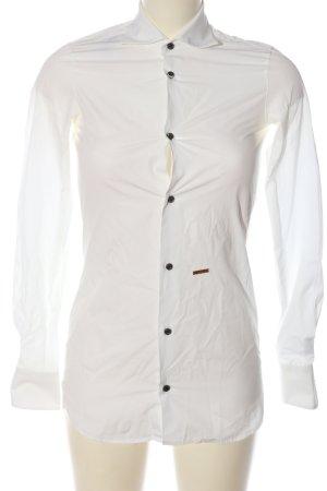 Dsquared2 Camicia a maniche lunghe bianco stile professionale