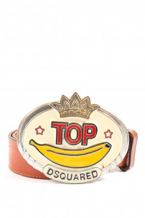Dsquared2 Leather Belt brown-cream casual look