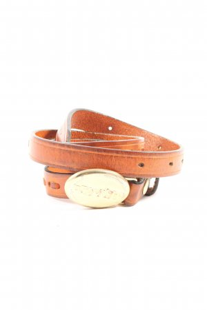 Dsquared2 Cinturón de cuero marrón look casual