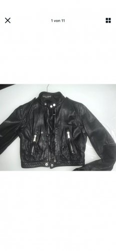 Dsquared2 Veste en cuir noir