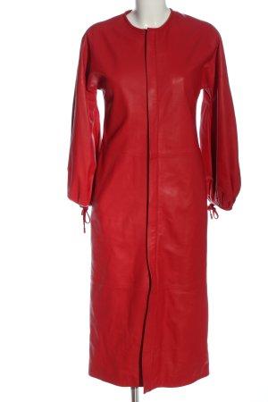Dsquared2 Skórzany płaszcz czerwony W stylu casual