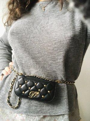 Dsquared2 mini Tasche Clutch Leder gesteppt
