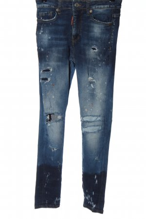 Dsquared2 Jeans a sigaretta blu stile casual