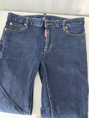 Dsquared2 Pantalon cigarette bleu