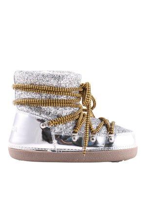 Dsquared2 Sneeuwlaarzen zilver extravagante stijl