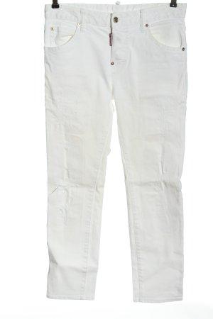 Dsquared2 Jeans a gamba dritta bianco stile casual