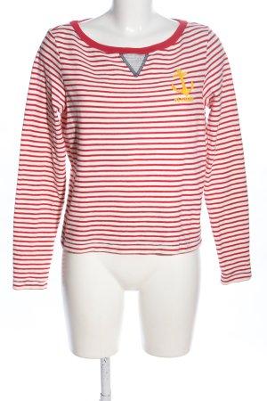 Dsquared2 Sweatshirt rot-weiß Motivdruck Casual-Look