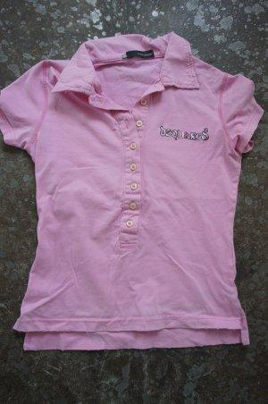 Dsquared2 T-Shirt XS 34 rosa Poloshirt