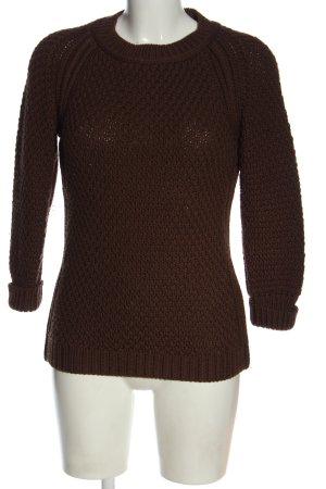 Dsquared2 Jersey de lana marrón punto trenzado look casual