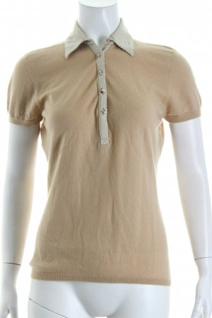 dtLm Don't Label me Kurzarmpullover beige Casual-Look