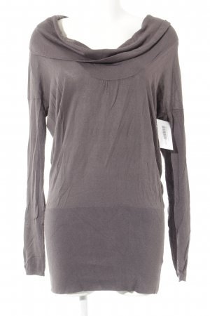dtLm Don't Label me Longpullover grauviolett Casual-Look