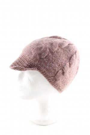 dtLm Don't Label me Visor Cap brown cable stitch casual look