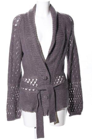 dtLm Don't Label me Strickjacke lila meliert Street-Fashion-Look