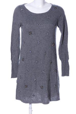 dtLm Don't Label me Vestito di lana grigio chiaro puntinato stile casual