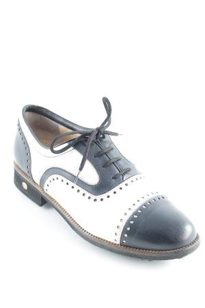Duca del Cosma Schnürschuhe schwarz-weiß klassischer Stil