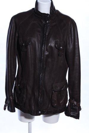 Duccio del Duca Leather Jacket black casual look