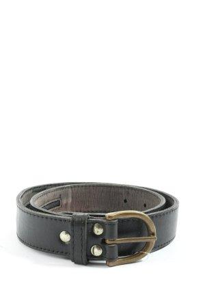 Dudra East Hebilla del cinturón negro look casual