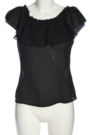 Due Passi Carmen Blouse black casual look