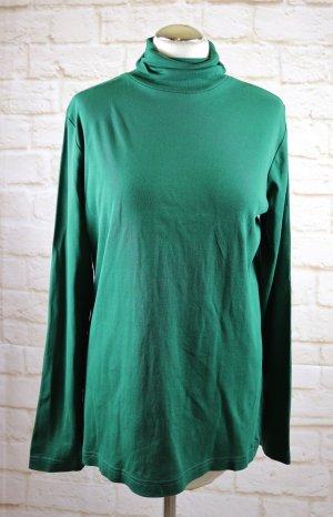 s.Oliver Camisa de cuello de tortuga verde Algodón