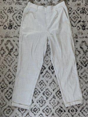 Stradivarius 7/8 Length Trousers white-beige