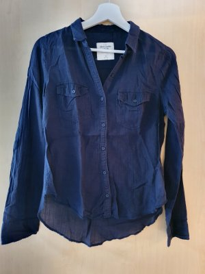Dünne Bluse/Hemd, Abercrombie & Fitch, dunkelblau, XS