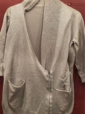 Pennyblack Chaleco de punto color plata-gris claro