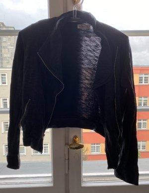 Dünne Hoodie-Jacke in schwarz-grau, Größe XS