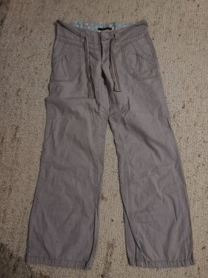 Vero Moda Linnen broek grijs-bruin-grijs