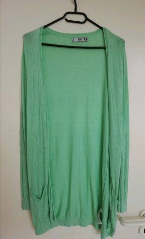AJC Giacca in maglia verde chiaro-menta