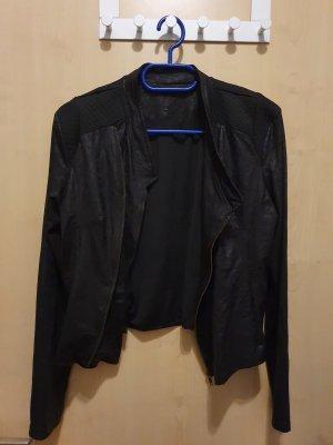 Blouson aviateur noir tissu mixte