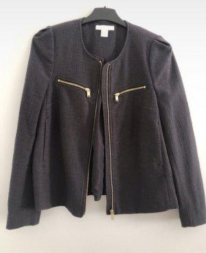H&M Tweed Blazer dark grey