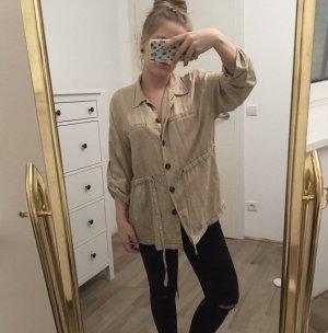Zara Trafaluc Marynarka koszulowa kremowy-beżowy