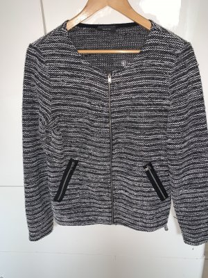 C&A Quilted Jacket black-white