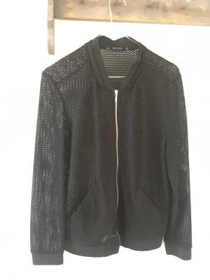 Zara Basic Chaqueta tipo blusa negro