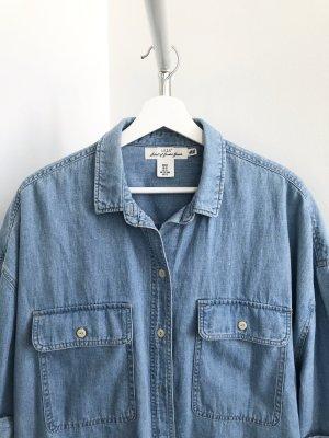 H&M Spijkershirt azuur-korenblauw
