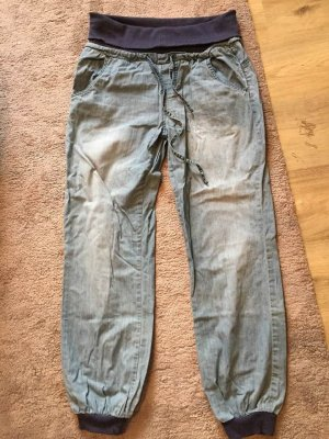 Hoge taille jeans blauw-donkerblauw