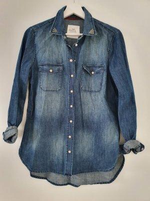 H&M L.O.G.G. Bluzka jeansowa niebieski