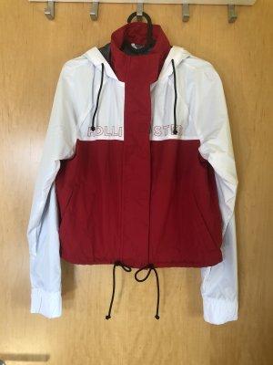 Hollister Giacca con cappuccio bianco-rosso