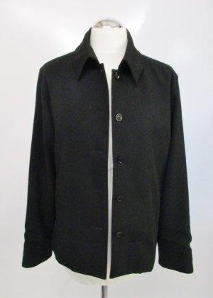 Dünne Schlichte Jacke Hemd Hirsch Größe M 38 Schwarz Elegant Übergangsjacke Blazer Kasten
